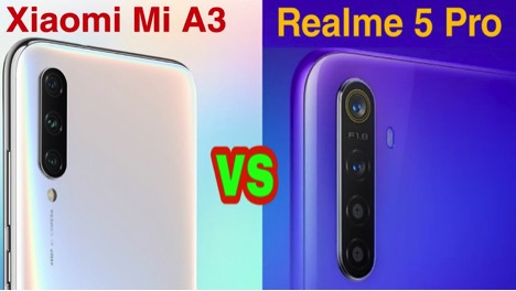 Mi A3 vs Realme 5 Pro- Price in India and Specs REVIEW