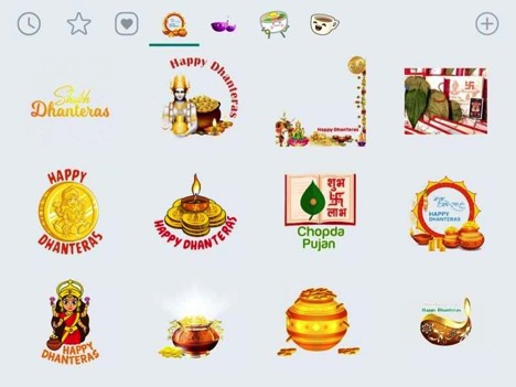 How to download and send Dhanteras stickers on WhatsApp