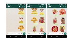 Navratri 2019- How to download and send WhatsApp Stickers for Navratri