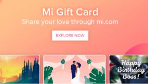 How to use Xiaomi Mi Gift Card Program launched in India